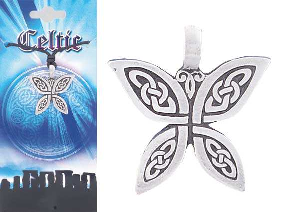 CELTIC Butterfly Pewter Pendant